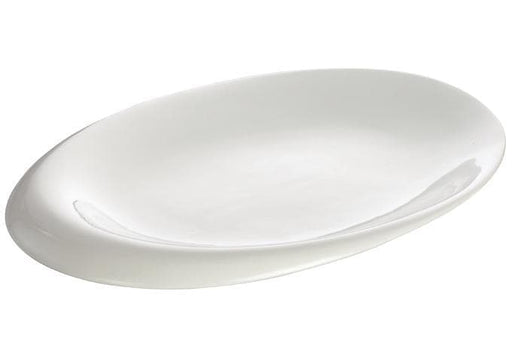 Winco Ardesia Ocea Creamy White Porcelain Oval Dish - Various Sizes - Omni Food Equipment