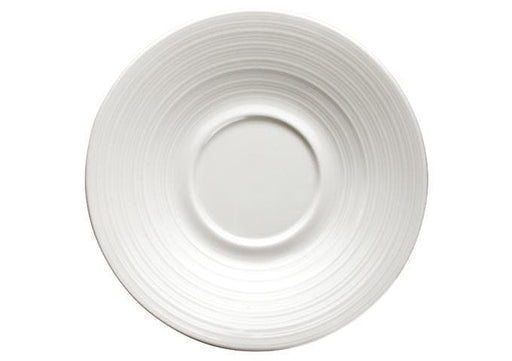Winco Bright White Zendo 6″ Porcelain Saucer - Omni Food Equipment