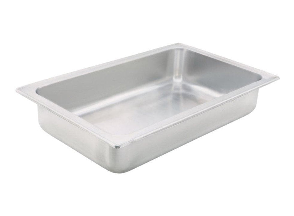 "Winco C-WPF Stainless Steel 4"" Deep Spillage Pan - Omni Food Equipment"
