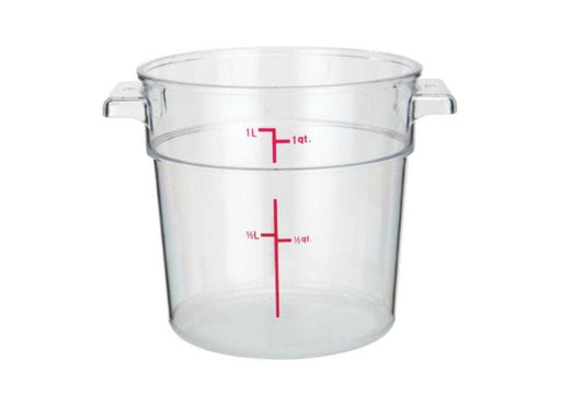 Winco Clear Polycarbonate Round Storage Container - Various Sizes - Omni Food Equipment