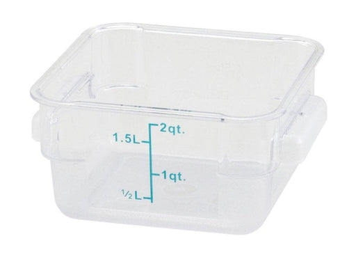 Winco Clear Polycarbonate Square Storage Container - Various Sizes - Omni Food Equipment