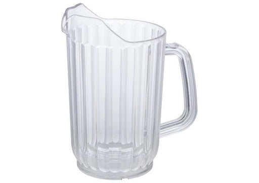 Winco Clear Polycarbonate Water Pitcher - Various Sizes - Omni Food Equipment