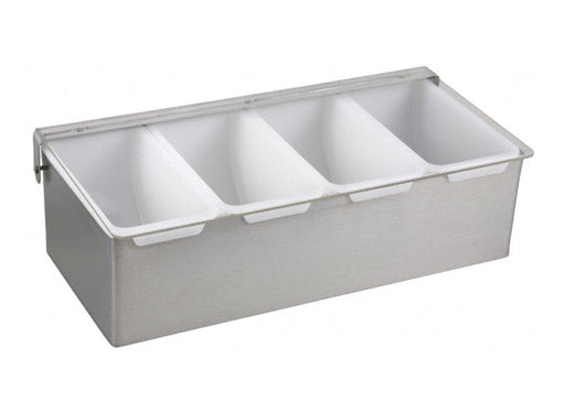 Winco Condiment Holder With Stainless Steel Base - Various Sizes - Omni Food Equipment