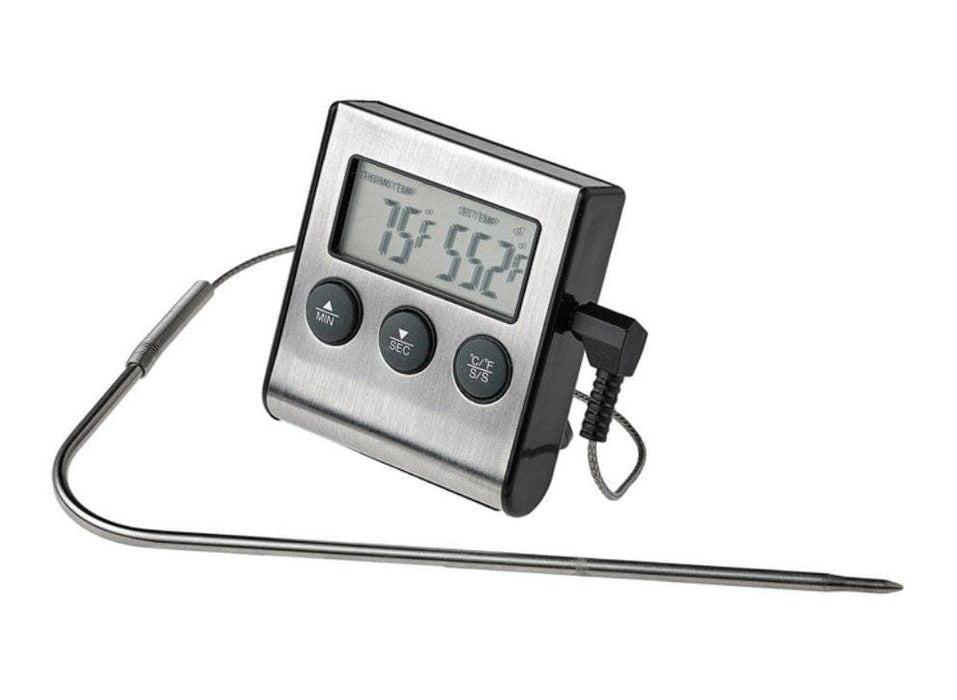 Winco Digital Roasting Thermometer With Timer And Probe - Omni Food Equipment