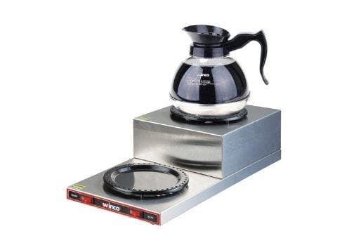 Winco ECW-2S Double Stacked Burner Coffee Warmer - Omni Food Equipment