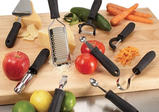 Winco Grater With Soft Grip Handle - Various Sizes - Omni Food Equipment