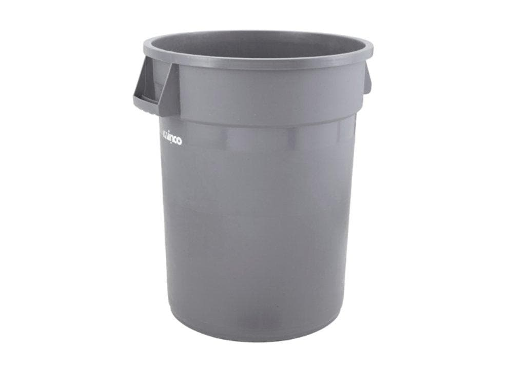 Winco Gray Round Trash Bin - Omni Food Equipment