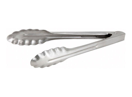 Winco Heavy Stainless Steel Utility Tongs - Various Sizes - Omni Food Equipment