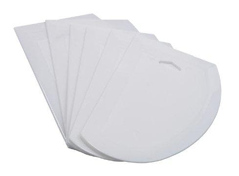 Winco Large Plastic Dough Scrapers (Pack of 6) - Omni Food Equipment