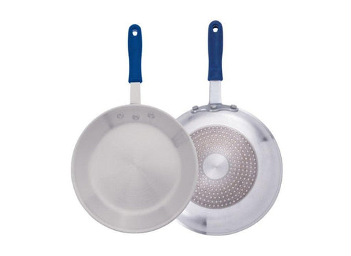 Winco Natural Finish Aluminum Fry Pans - Various Sizes - Omni Food Equipment