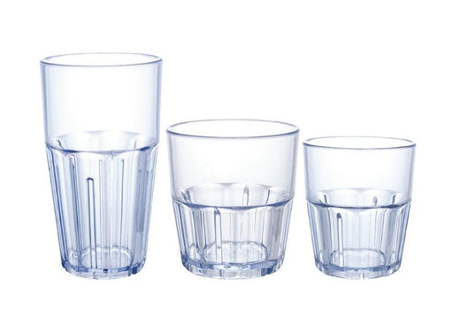 Winco Plastic Havana Tumbler (Pack of 12) - Various Sizes - Omni Food Equipment