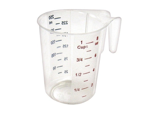 Winco Polycarbonate Measuring Cup With Colour Graduations - Various Sizes - Omni Food Equipment