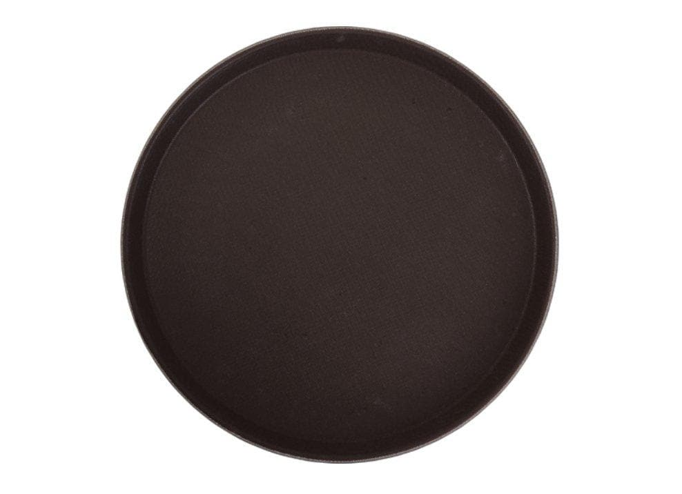 Winco Round Easy-Hold Rubber-Lined Tray - Various Sizes - Omni Food Equipment
