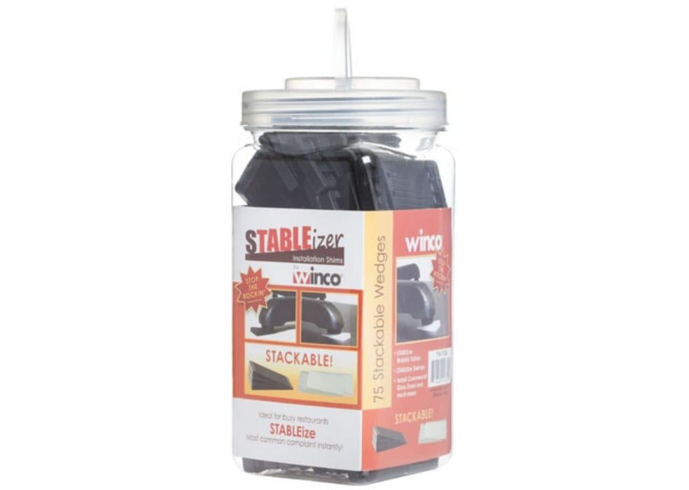 Winco sTABLEizer Plastic Table Wedges/Shims - Pack of 75 - Omni Food Equipment