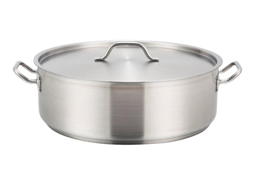 Winco Stainless Steel Brazier - Various Sizes - Omni Food Equipment