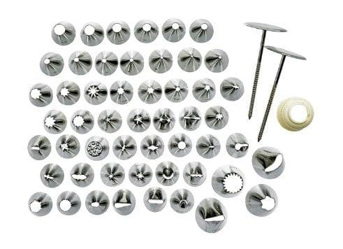 Winco Stainless Steel Cake Decorating Set - 52 Piece Set - Omni Food Equipment