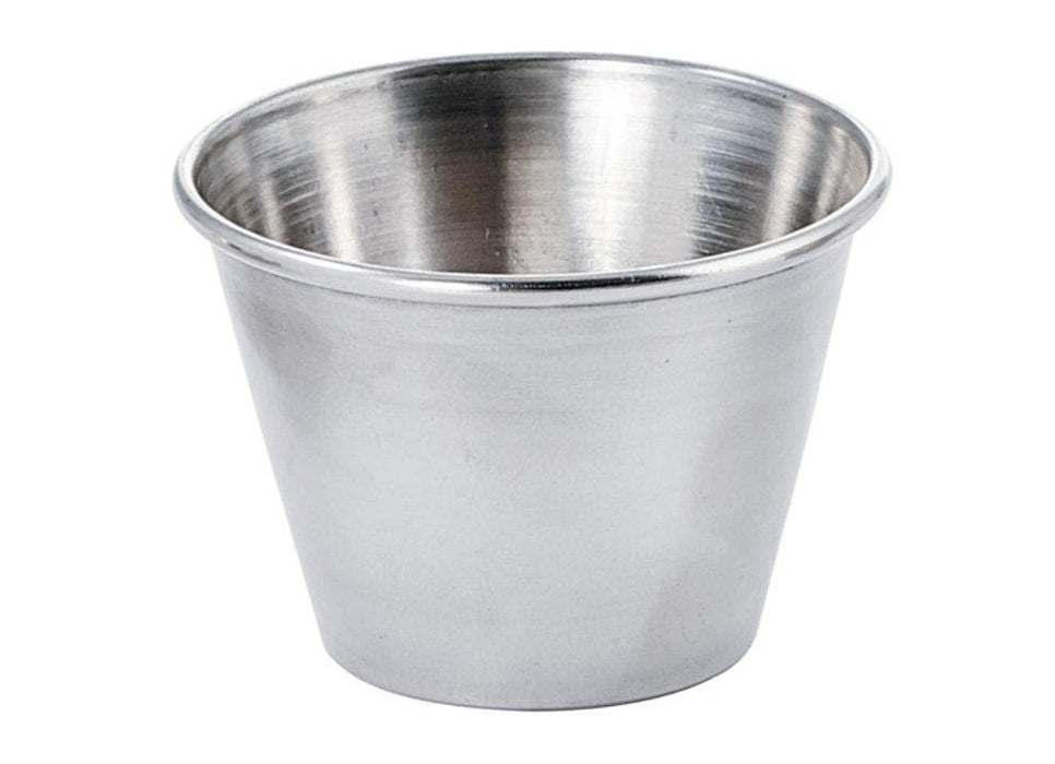 Winco Stainless Steel Condiment Cup (Pack of 12) - Various Sizes - Omni Food Equipment