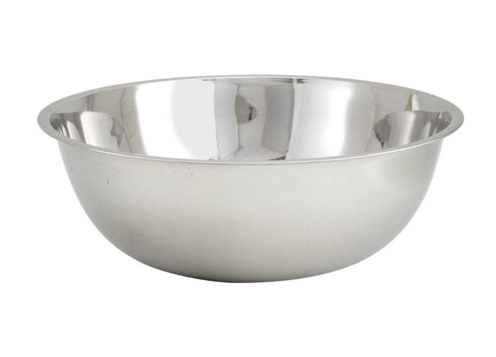 Winco Stainless Steel Economy Mixing Bowl - Various Sizes - Omni Food Equipment