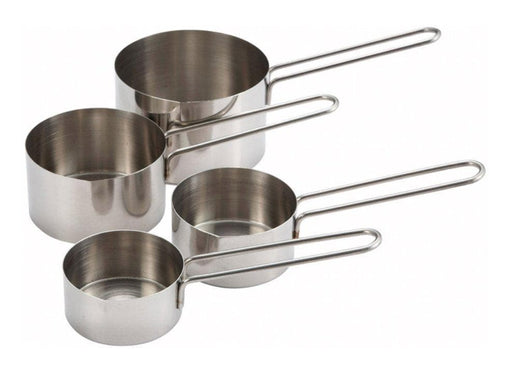 Winco Stainless Steel Measuring Cup Set With Wire Handle (Set of 4) - Omni Food Equipment