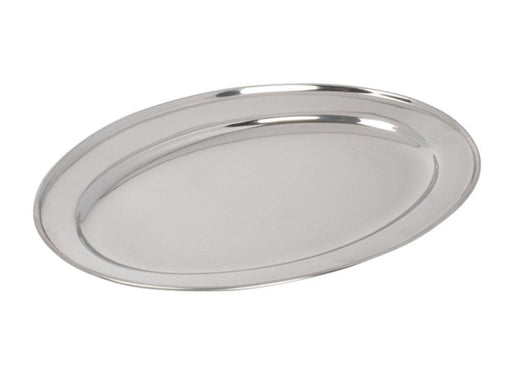 Winco Stainless Steel Oval Platter - Various Sizes - Omni Food Equipment