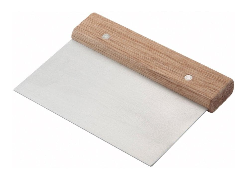 Winco Stainless Steel Scraper With Wooden Handle - Omni Food Equipment