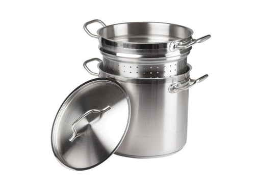 Winco Stainless Steel Steamer/Pasta Cooker - Various Sizes - Omni Food Equipment