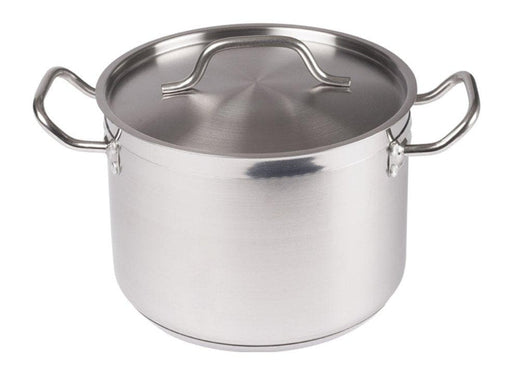 Winco Stainless Steel Stock Pot With Cover - Various Sizes - Omni Food Equipment
