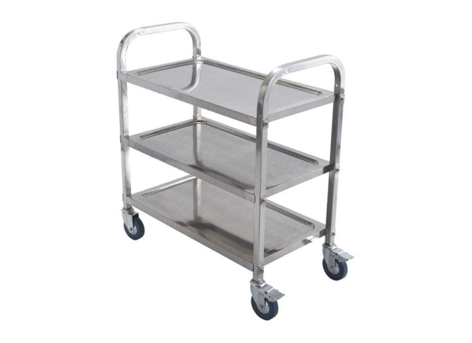 "Winco SUC-30 Stainless Steel 30"" x 16"" Trolley - Omni Food Equipment"
