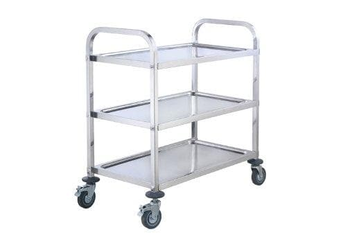 "Winco SUC-50 Stainless Steel 37"" x 19"" Trolley - Omni Food Equipment"