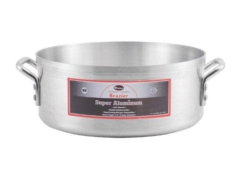 Winco Super Aluminum Brazier, 4mm Thick - Various Sizes - Omni Food Equipment