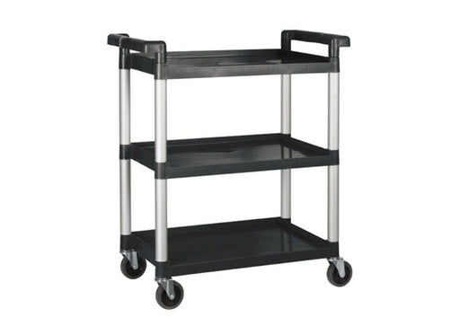 Winco UC-2415K Polypropylene Black Utility Cart, 330 Lbs Capacity - Omni Food Equipment