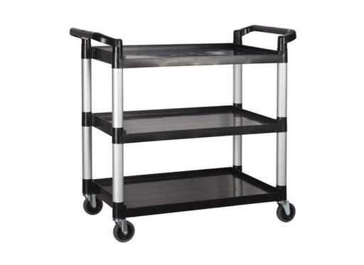 Winco UC-3019K Polypropylene Black Utility Cart, 400 Lbs Capacity - Omni Food Equipment