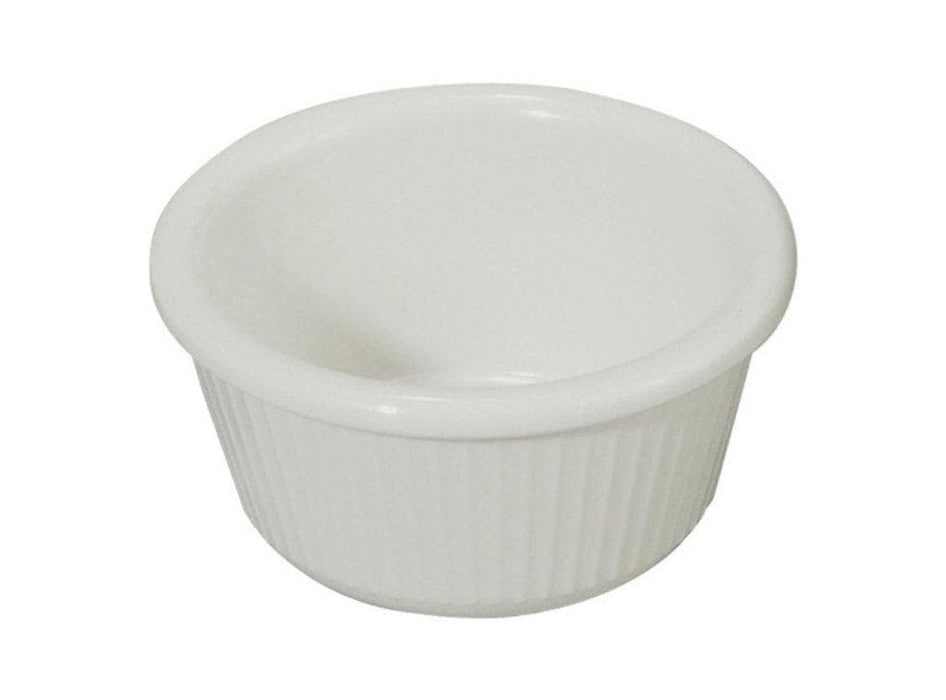 Winco White Fluted Ramekins (Pack of 12) - Various Sizes - Omni Food Equipment