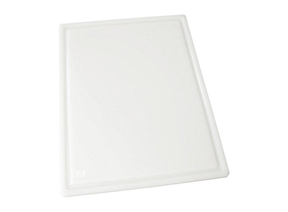 Winco White Grooved Cutting Board - Various Sizes - Omni Food Equipment