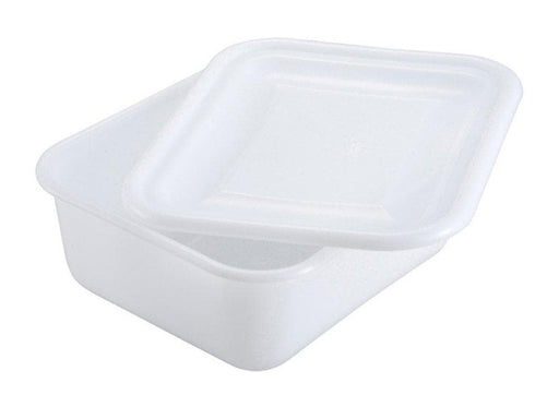 Winco White Polypropylene Mini Bin And Cover - Sold Separately - Omni Food Equipment
