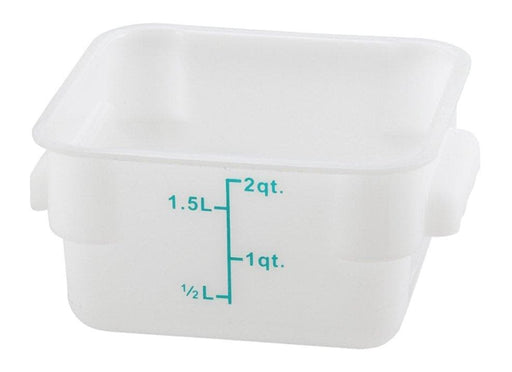 Winco White Polypropylene Square Storage Container - Various Sizes - Omni Food Equipment