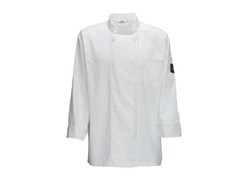 Winco White Universal Fit Chef Jacket - Various Sizes - Omni Food Equipment