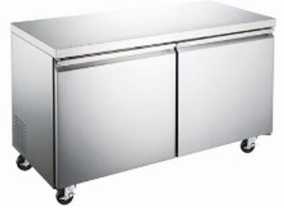 Canco WTR-47 Double Doors Undercounter Stainless Steel Refrigerator