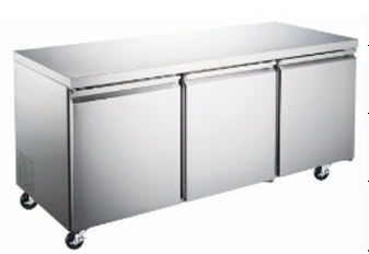 Canco WTR-72 Undercounter Triple Doors Stainless Steel Refrigerator