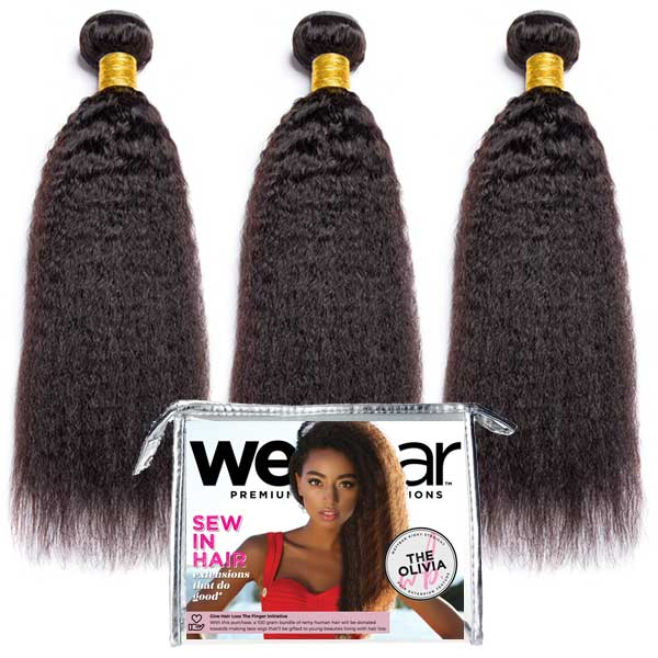 3pc Weave Bundle DEAL - OLIVIA Kinky Straight