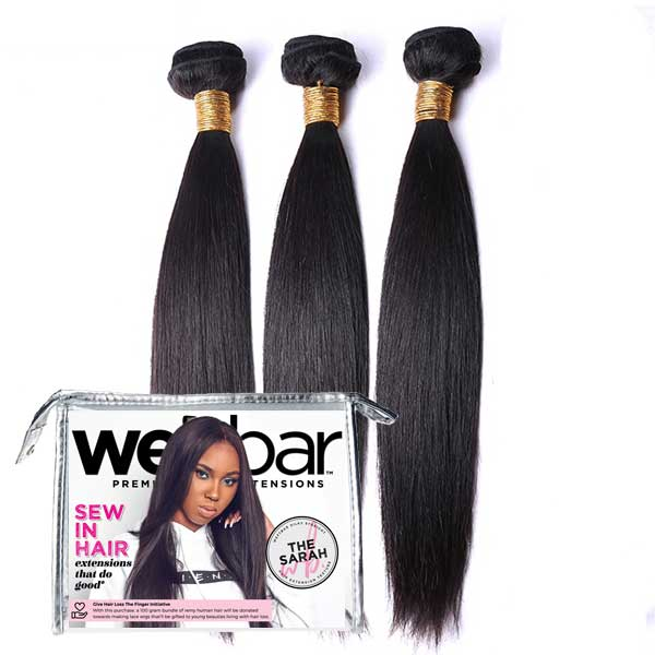 For Licensed Pros Only - SARAH Silky Straight Sew In Bundles