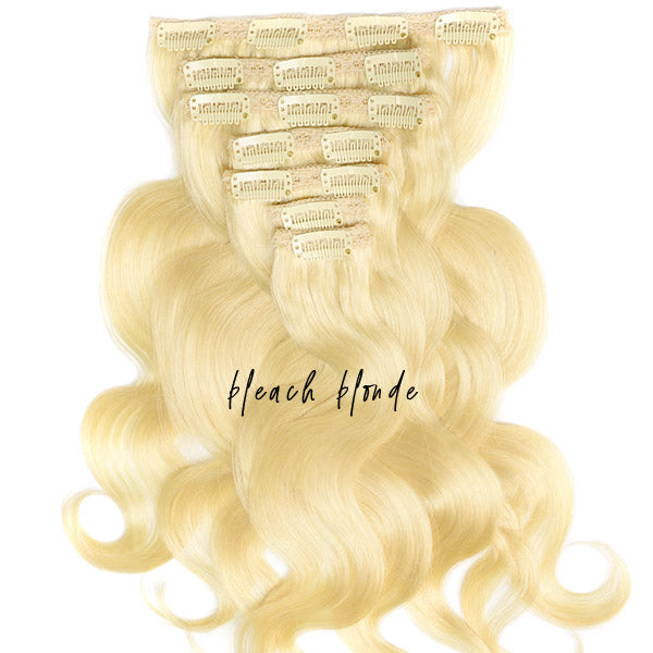 Blonde Clip In Extensions - LAUREN Silky Body Wave