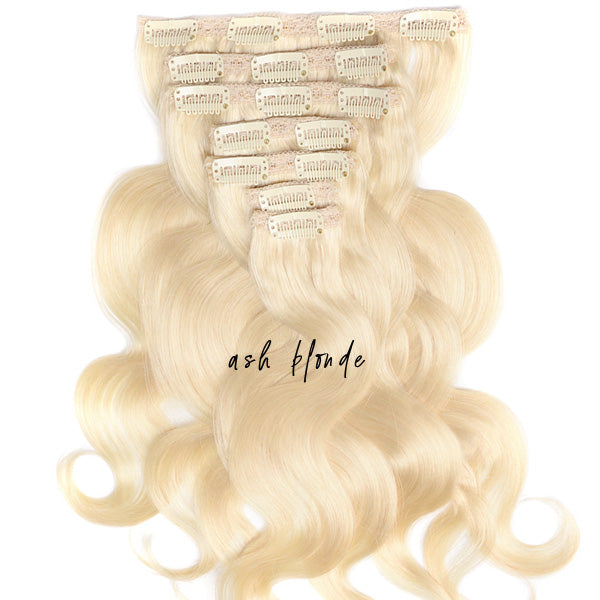 Bridal Blonde Clip In Extensions - LAUREN Body Wave