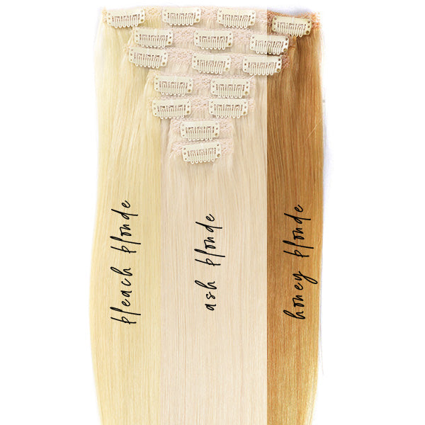 Straight Blonde Clip In Hair Extensions Wb Xtns Collection