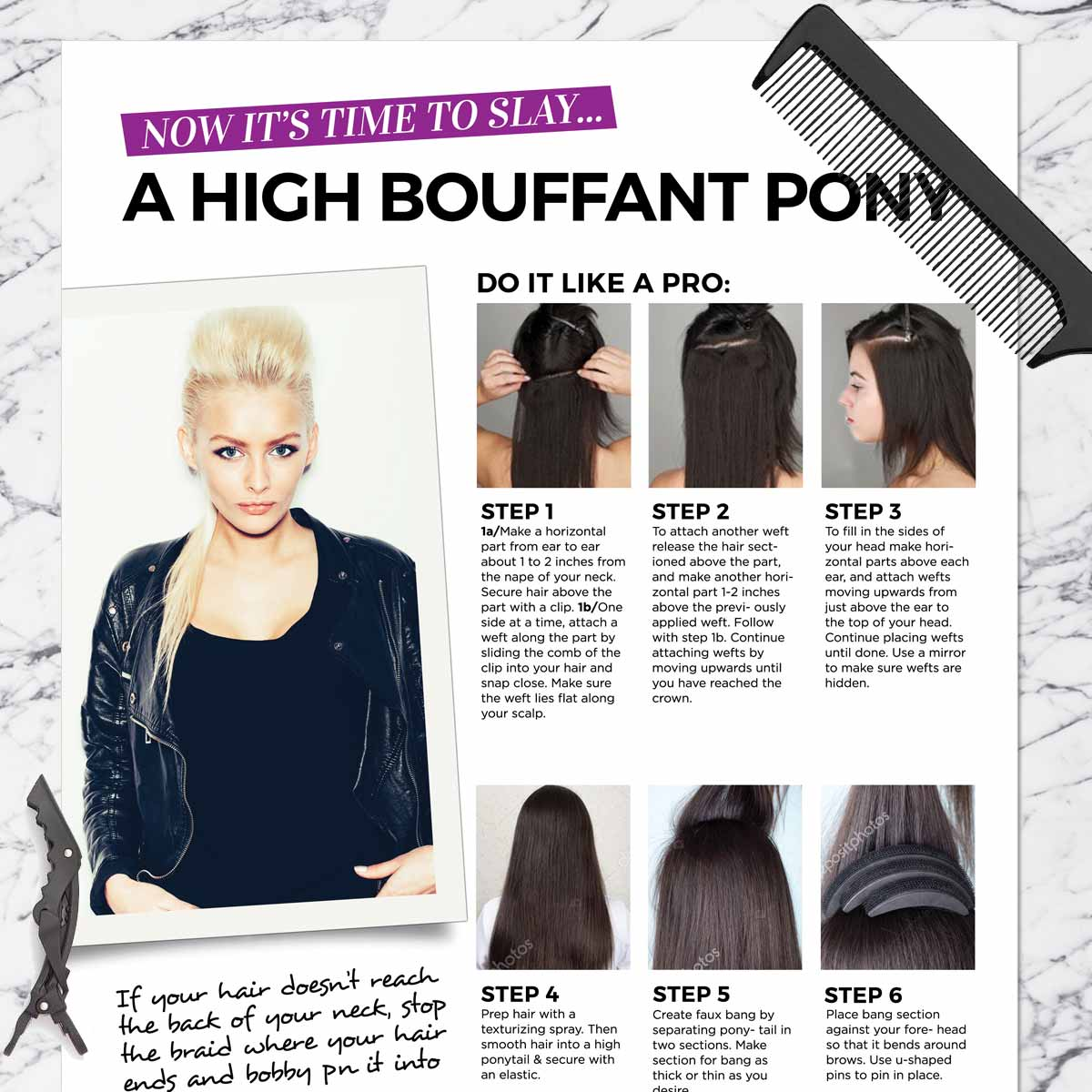 High Bouffant Ponytail