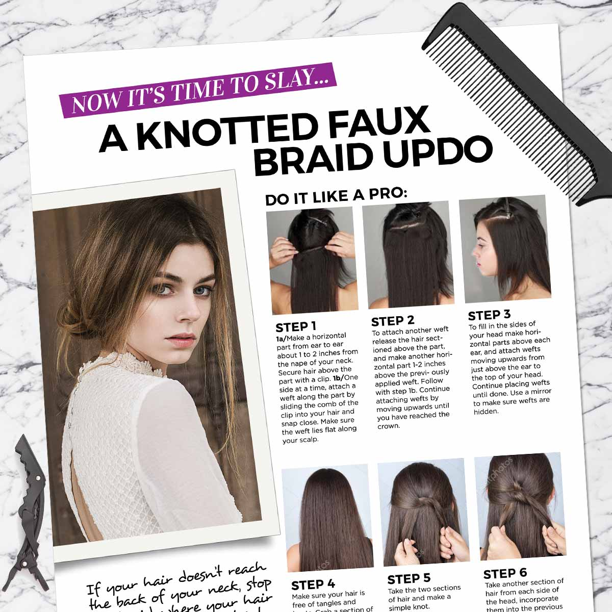 Knotted Faux Braid Updo Get The Look Kit All In One Kits Weftbar