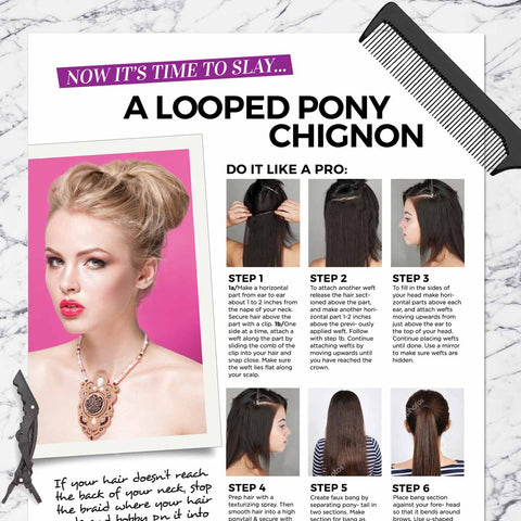 Looped Pony Chignon