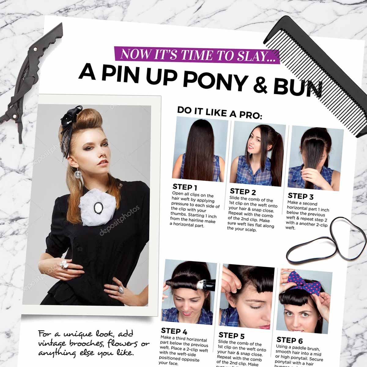 Pin Up Pony & Bun