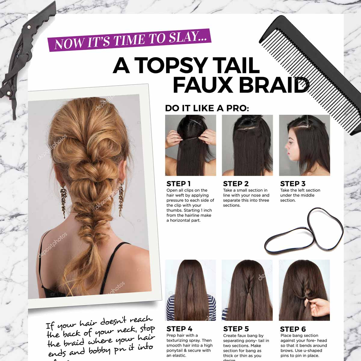 Topsy Tail Faux Braid