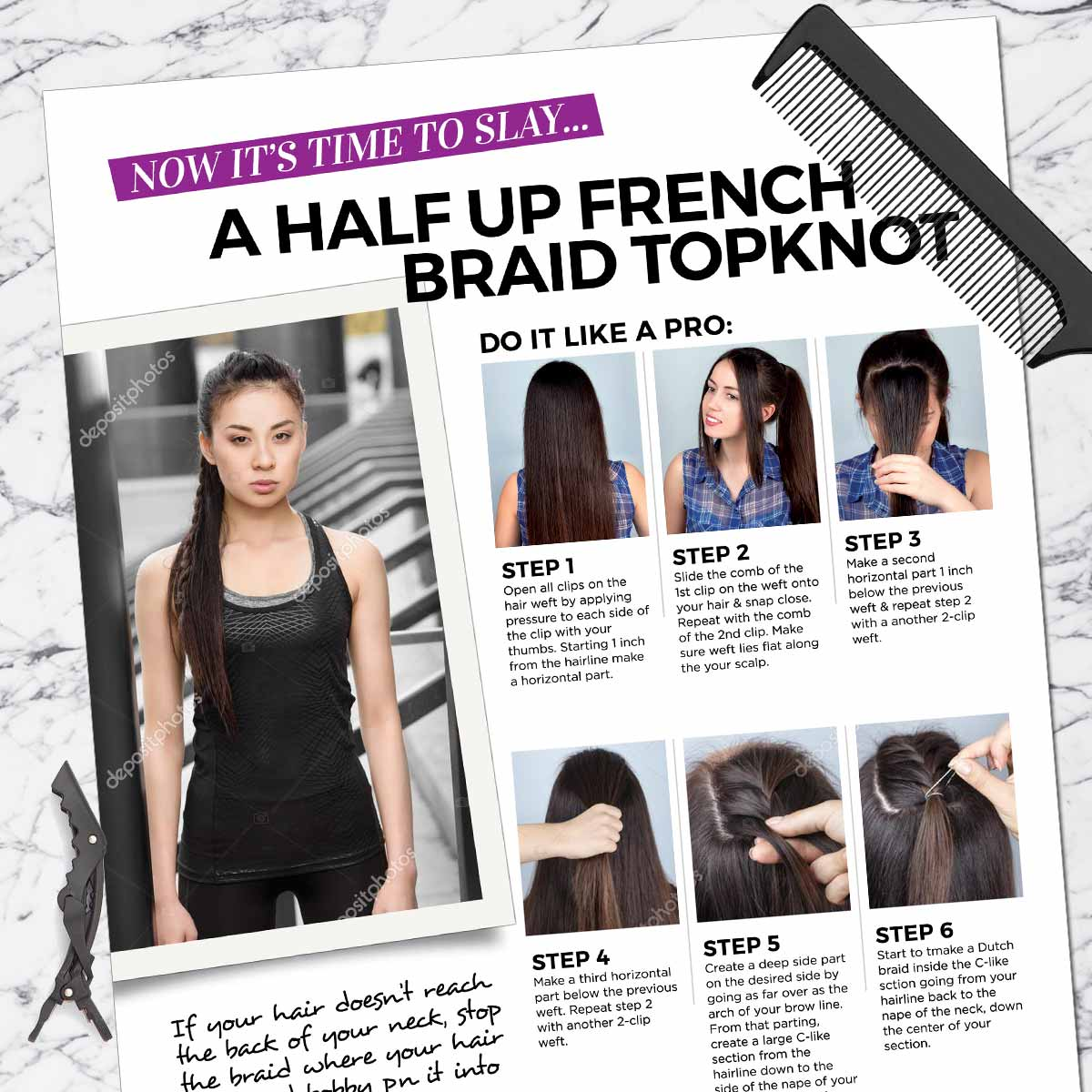 Half Up French Braid Topknot